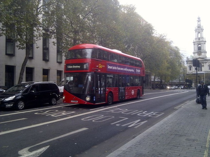 London Iconic red buses